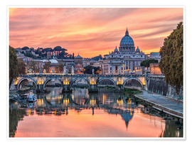 Premium poster  Rome in the evening - Jörg Gamroth