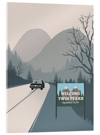 Acrylic print  Welcome to Twin Peaks - 2ToastDesign