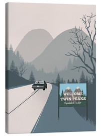 Canvas  Alternative welcome to twin peaks art print - 2ToastDesign