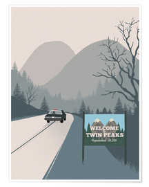 Poster  Alternative welcome to twin peaks art print - 2ToastDesign