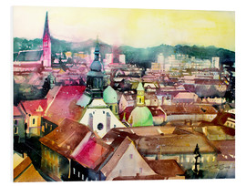 Foam board print  Graz, view to the cathedral - Johann Pickl