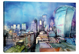 Canvas print  London, The Walkie Talkie - Johann Pickl
