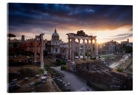 Acrylic glass  Forum Romanum - Michael Breitung
