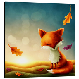 Aluminium print  Little red fox - Elena Schweitzer
