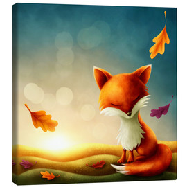 Canvas  Little red fox - Elena Schweitzer