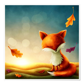 Premium poster Little red fox