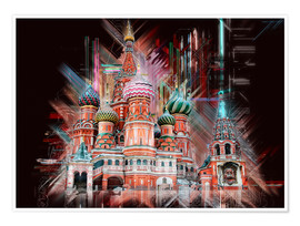 Premium poster  Moscow Basilica Cathedral - Peter Roder