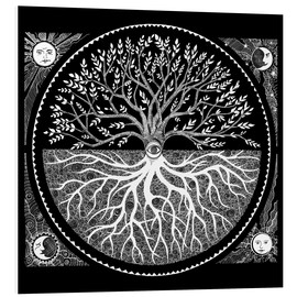 Foam board print  Druid tree of life - Brenda Erickson