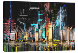 Canvas print  Shanghai Skyline - Peter Roder
