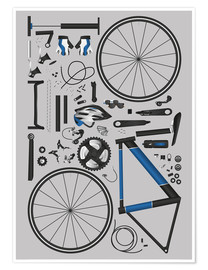 Premium poster  Bike skeleton