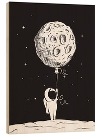 Wood print  Out and about in space - Kidz Collection