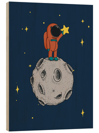 Wood print  Read for the stars - Kidz Collection
