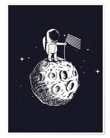 Premium poster  The first man on the moon - Kidz Collection