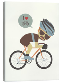 Canvas print  I love cycling - Kidz Collection