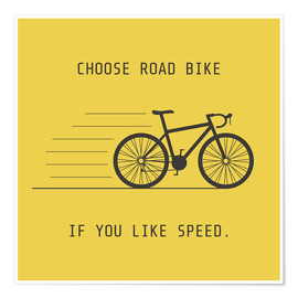 Poster  Road bike for sprinters
