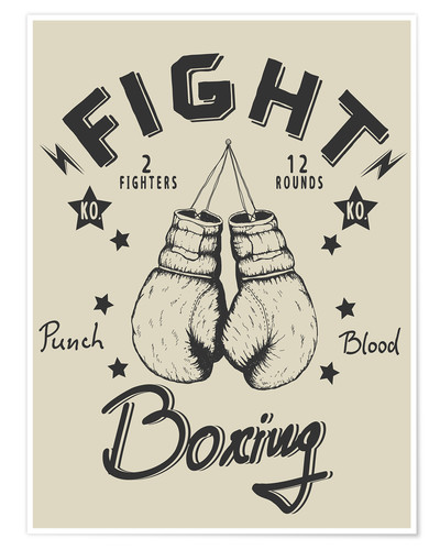 Premium poster Fight - Boxing