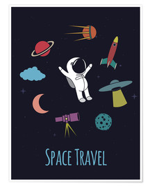 Poster Space Travel Kid
