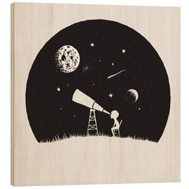 Wood print  Looking into the stars - Kidz Collection