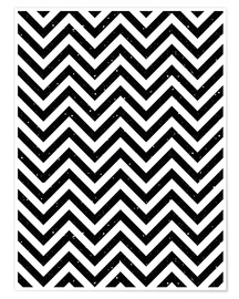 Herringbone pattern black and white