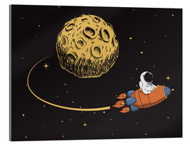 Acrylic glass  To the moon and back - Kidz Collection