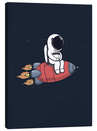 Canvas print  Little astronaut with rocket - Kidz Collection