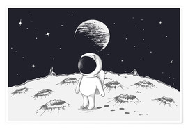 Premium poster  Little astronaut - Kidz Collection