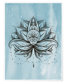 Premium poster Lotus Zen watercolor