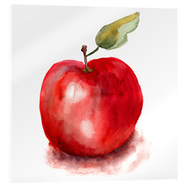 Acrylic print  Sweet apple watercolor