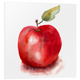 Foam board print  Sweet apple watercolor