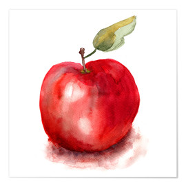 Poster  Sweet apple watercolor