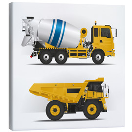 Canvas print  Construction sites vehicles - Kidz Collection