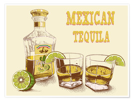 Premium poster Tequila Drink