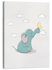 Canvas print  Little elephant with butterfly - Kidz Collection