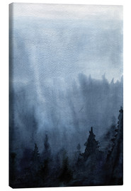 Canvas  Mist over the forest
