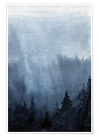 Premium poster Mist over the forest