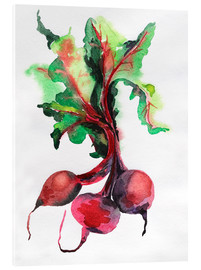Acrylic print  Radish watercolor