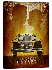 Canvas  The Great Gatsby Poster - Albert Cagnef