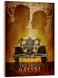 Wood print  The Great Gatsby - Albert Cagnef