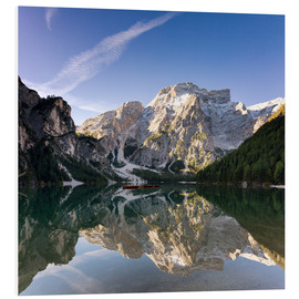 Foam board print  Reflection at Lake Prags, Soth Tyrol - Circumnavigation