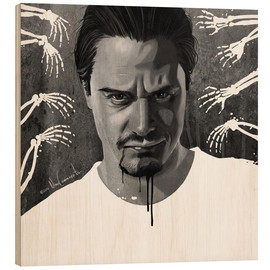 Wood print  mike patton - Nino Cammarata