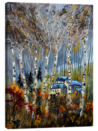 Canvas print  The houses in the forest - Pol Ledent