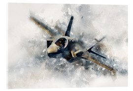 Acrylic print  F 35 lighting - airpowerart