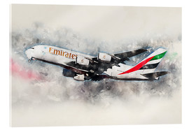 Acrylic glass  Emirates A380 - airpowerart
