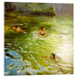 Acrylic print  Wild swimming - Johnny Morant