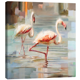 Canvas print  Sardinian flamingos - Johnny Morant