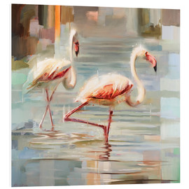 Foam board print  Sardinian flamingos - Johnny Morant