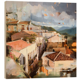 Wood print  Roofs of Sicily - Johnny Morant