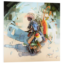 Foam board print  Beach merchant - Johnny Morant