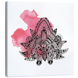 Canvas print  YOGA Symbol Lotus - SMUCK