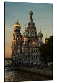 Alu-Dibond  Cathedral of the Savior in Sankt Petersburg - Jaroslaw Blaminsky